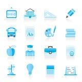 De pictogrammen van de school en van het onderwijs Royalty-vrije Stock Foto's