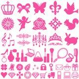 De pictogrammen van de schoonheid Stock Foto