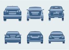 De pictogrammen van de Sedan van auto's SUV Royalty-vrije Stock Afbeelding