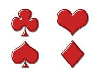 De pictogrammen van de speelkaart Stock Afbeelding