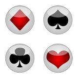 De pictogrammen van de speelkaart Stock Foto's