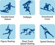 De pictogrammen van de sport Stock Fotografie