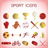 De pictogrammen van de sport royalty-vrije illustratie