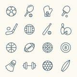 De pictogrammen van de sport Stock Foto's