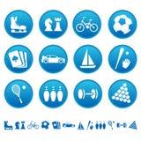 De pictogrammen van de sport & van de hobby Stock Foto