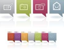 De Pictogrammen van de Status van de Pictogrammen van de Telefoon van de oud-manier Stock Foto