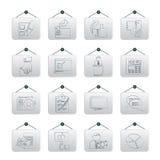 De pictogrammen van de stemming en van verkiezingen Stock Foto's