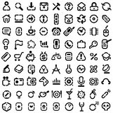 De pictogrammen van de stencil Royalty-vrije Stock Afbeelding