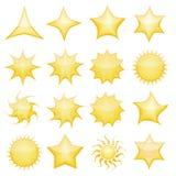 De pictogrammen van de ster Stock Afbeelding