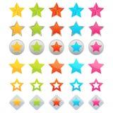 De pictogrammen van de ster Stock Foto