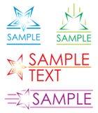 De pictogrammen van de ster Royalty-vrije Stock Fotografie