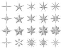 De pictogrammen van de ster Stock Afbeeldingen