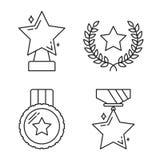 De Pictogrammen van de sterrenlijn Royalty-vrije Stock Afbeeldingen