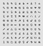 De pictogrammen van de sticker Stock Foto's