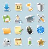 De pictogrammen van de sticker voor tekens en interface Royalty-vrije Stock Afbeelding