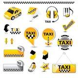 De pictogrammen van de TAXI Royalty-vrije Stock Afbeeldingen