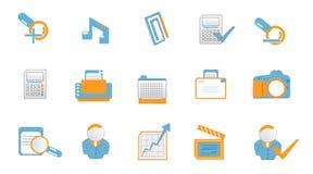 De pictogrammen van de technologie en van het Web Royalty-vrije Stock Afbeelding