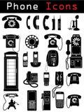 De Pictogrammen van de telefoon Royalty-vrije Stock Afbeelding