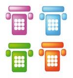 De pictogrammen van de telefoon Royalty-vrije Stock Fotografie