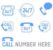 De pictogrammen van de telefoon Stock Foto