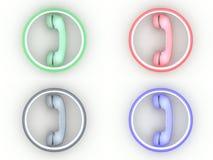 De pictogrammen van de telefoon vector illustratie