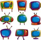 De pictogrammen van de televisie Royalty-vrije Stock Fotografie