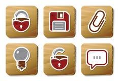 De pictogrammen van de toolbar en van de Interface | De reeks van het karton Stock Foto