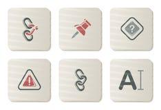 De pictogrammen van de toolbar en van de Interface   De reeks van het karton Stock Illustratie
