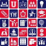 De pictogrammen van de universiteit Royalty-vrije Stock Foto's