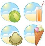 De pictogrammen van de vakantie stock illustratie