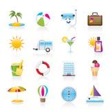 De pictogrammen van de vakantie en van de vakantie Royalty-vrije Stock Foto's