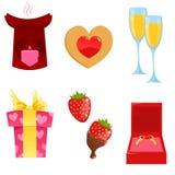 De pictogrammen van de valentijnskaart Royalty-vrije Illustratie