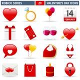 De Pictogrammen van de valentijnskaart - Reeks Robico Royalty-vrije Stock Fotografie