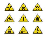 De pictogrammen van de veiligheid Stock Fotografie