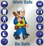 De pictogrammen van de veiligheid Stock Foto