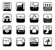 De Pictogrammen van de veiligheid stock illustratie