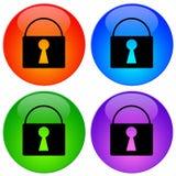 De pictogrammen van de veiligheid Royalty-vrije Stock Afbeeldingen