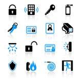 De pictogrammen van de veiligheid Royalty-vrije Stock Afbeelding