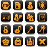 De pictogrammen van de veiligheid Royalty-vrije Stock Foto