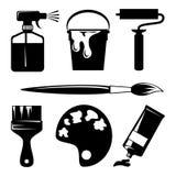 De pictogrammen van de verf Stock Foto's