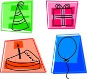 De pictogrammen van de verjaardag stock illustratie