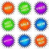 De pictogrammen van de verkoop vector illustratie