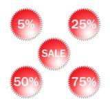 De Pictogrammen van de verkoop royalty-vrije illustratie