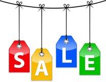 De pictogrammen van de verkoop Stock Afbeeldingen