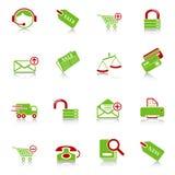 De pictogrammen van de verkoop en het winkelen Royalty-vrije Stock Foto's