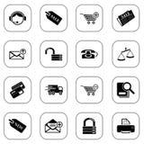 De pictogrammen van de verkoop en het winkelen Vector Illustratie