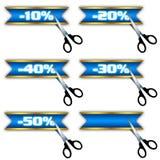 De pictogrammen van de verkoop, speciale aanbieding, korting Stock Foto