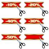 De pictogrammen van de verkoop, speciale aanbieding, korting Stock Foto's