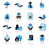 De pictogrammen van de verzekering Royalty-vrije Stock Foto's