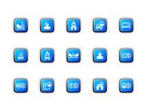De pictogrammen van de verzekering stock illustratie